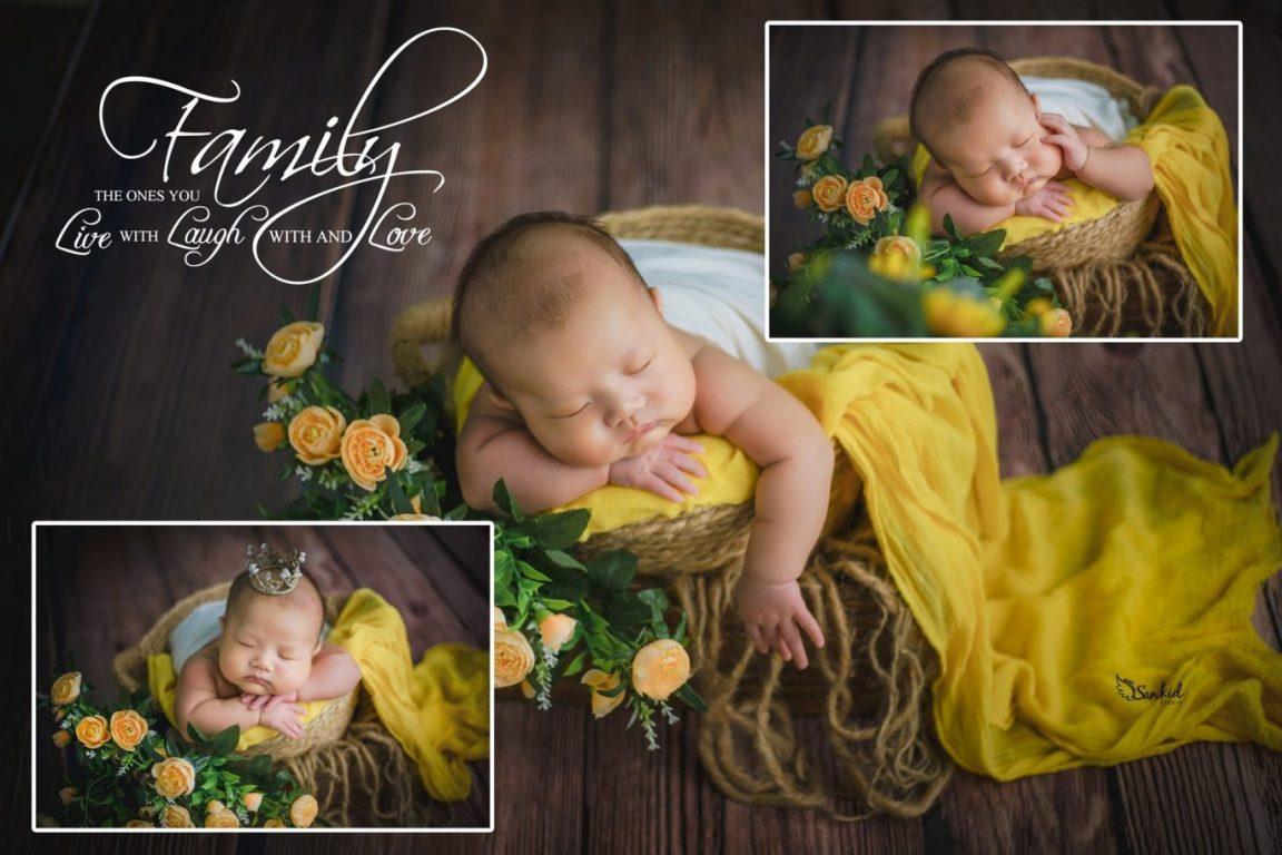 Bộ ảnh bé sơ sinh 6 tháng tuổi