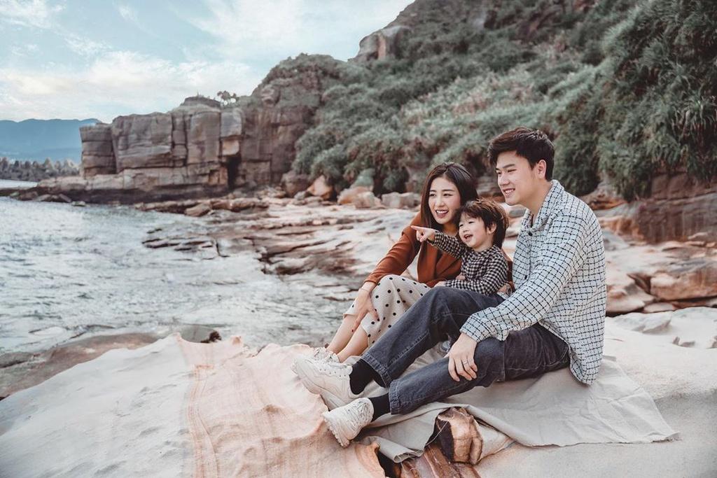 chụp hình du lịch gia đình