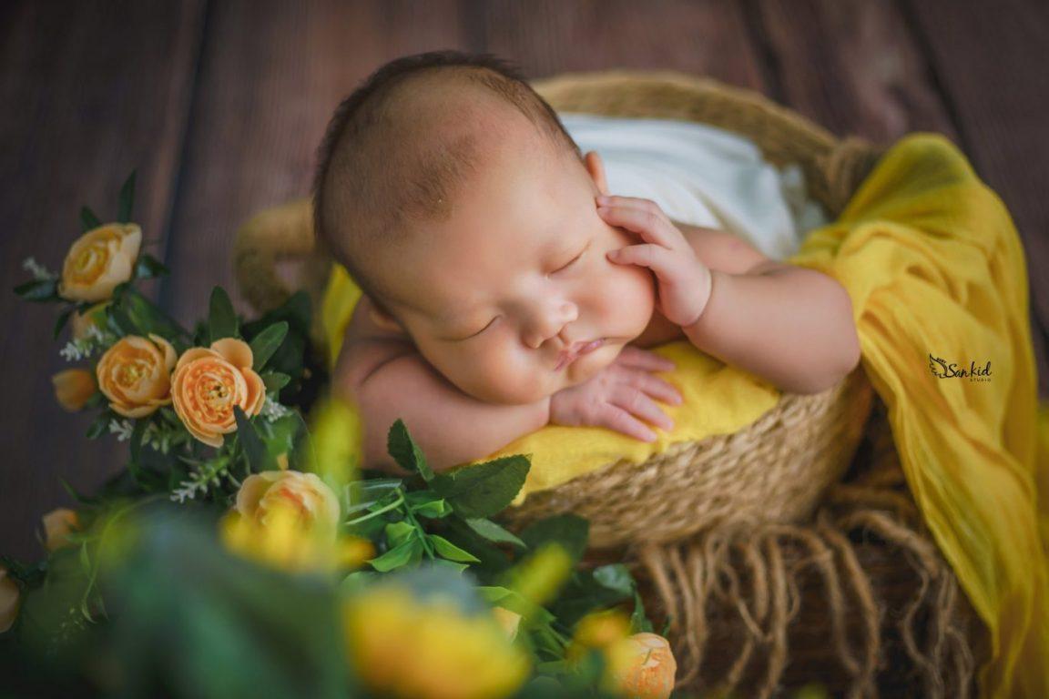 Album ảnh bé sơ sinh dễ thương trong giấc ngủ say