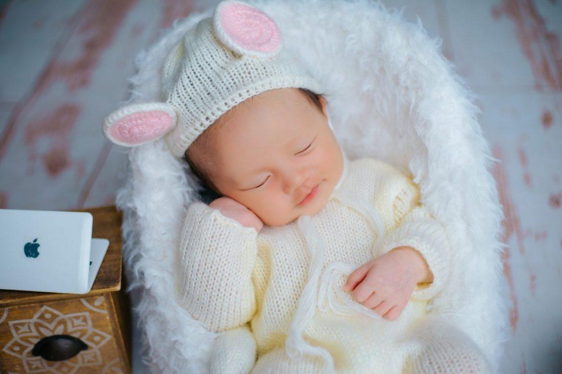 Album ảnh bé sơ sinh dễ thương đáng yêu