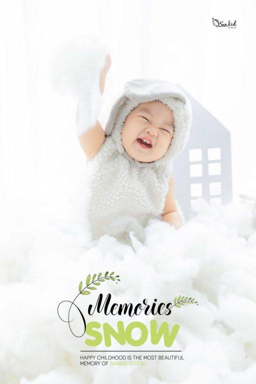 Hình ảnh những chú cừu thông minh giúp buổi chụp ảnh sinh nhật bé 1 tuổi ấn tượng phần 01