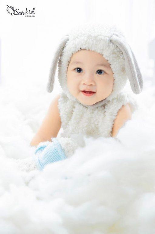 Thỏ và Rùa là concept cho bộ ảnh thôi nôi cho bé siêu đẹp phần 03