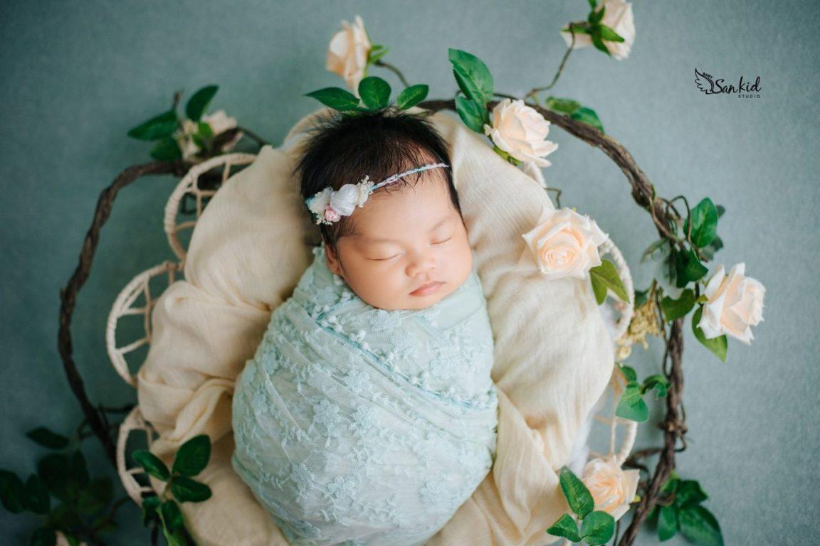 Đạo cụ chụp ảnh cho bé bằng chăn mềm