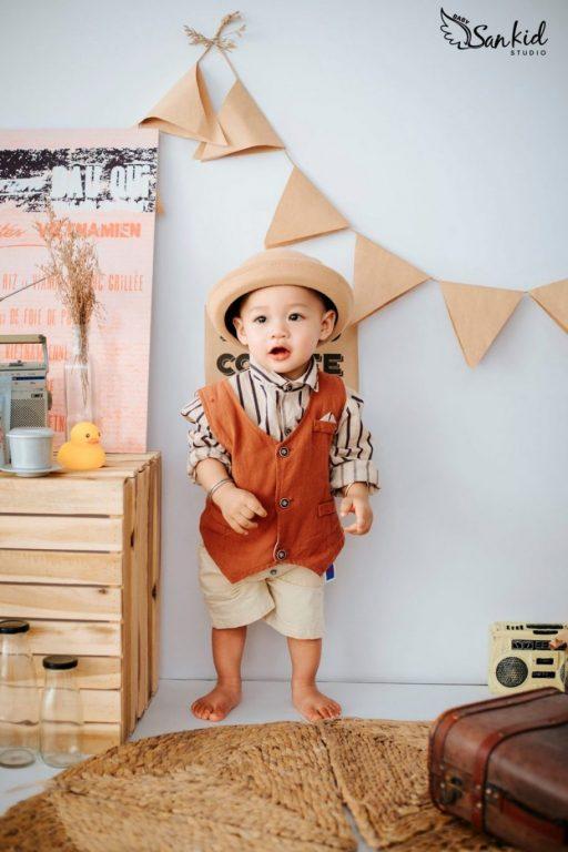 Thời trang trẻ em với concept vintage