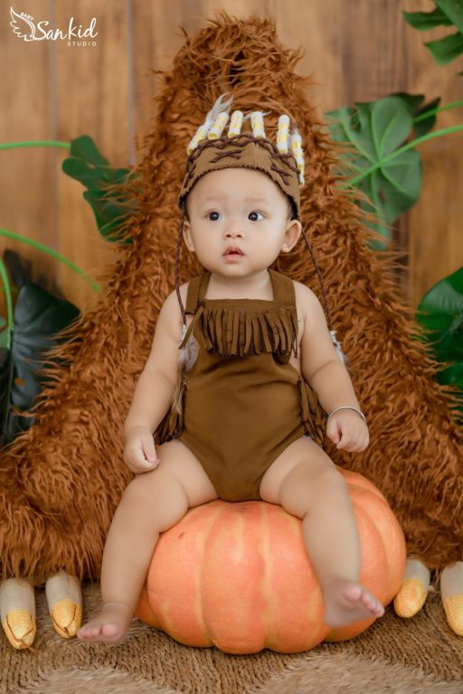 Ý tưởng hóa trang Halloween cho bé trai thành Tarzan Nhí