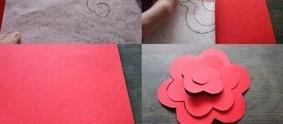 Cách làm hoa hồng giấy tặng mẹ 20-10