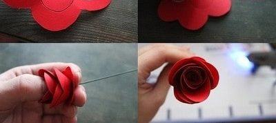 Hướng dẫn làm hoa hồng tặng vợ 20-10