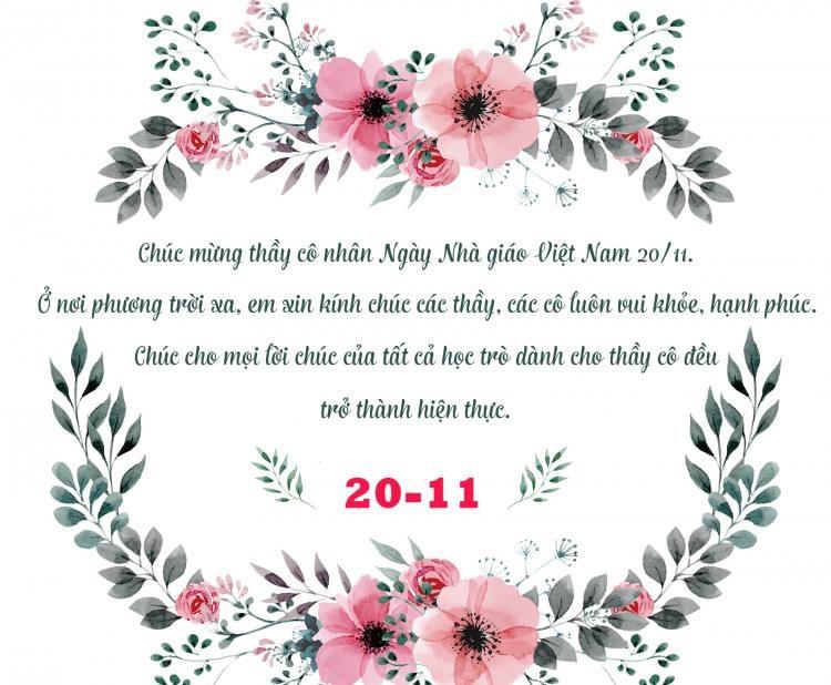 Thiệp chúc mừng 20/11 ngày Nhà Giáo Việt Nam đẹp nhất