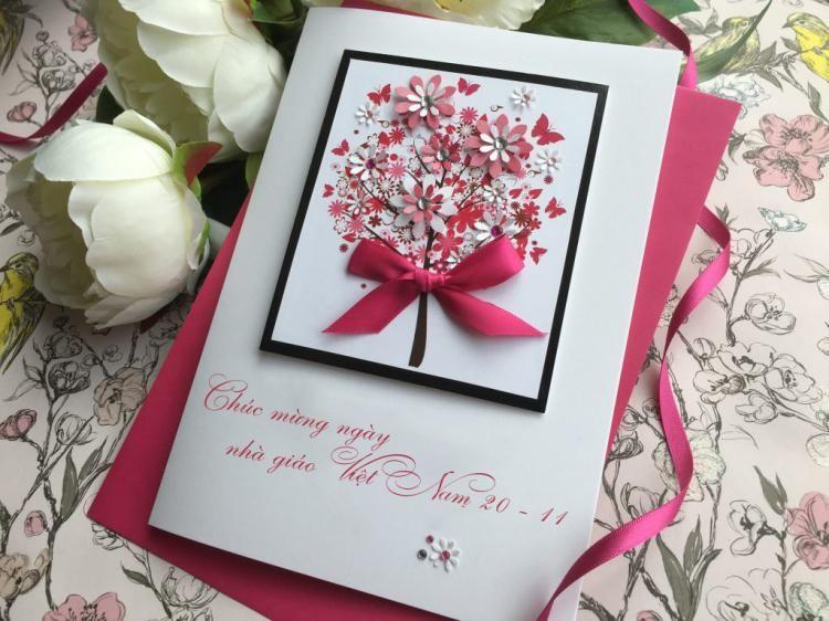 Cách làm thiệp hoa 20-11 tặng thầy cô