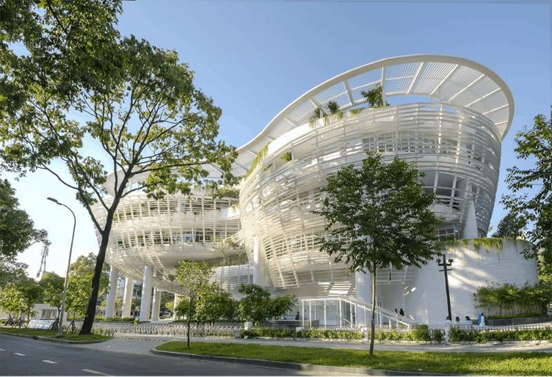 Nhà thiếu nhi Tp Hồ Chí Minh mang nét hiện đại và không gian xanh